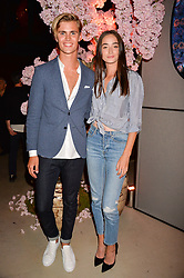 Sam Harwood, Millicent Cantrall at the Warner Music Group and British GQ Summer Party in partnership with Quintessentially held at Nobu Shoreditch Willow Street, London England. 5 July 2017.
