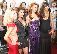 Mollie King; Vanessa White; Una Healy; Frankie Sandford; The Saturdays, Glamour Women of the Year Awards, Berkeley Square Gardens, London UK, 04 June 2013, (Photo by Richard Goldschmidt)