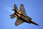 Israeli Air force Fighter jet Boeing F-15I Airborne