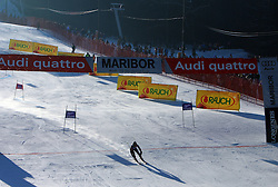 Skier at second run at Maribor women giant slalom race of Audi FIS Ski World Cup 2008-09, in Maribor, Slovenia, on January 10, 2009. (Photo by Vid Ponikvar / Sportida)