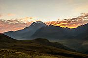 Sunrise on Volcano Tolima, Colombia