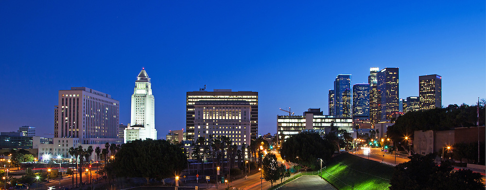 Los Angeles City Skyline with City Hall