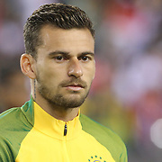 FOXBOROUGH, MASSACHUSETTS - JUNE 12:  Lucas Lima #10 of Brazil during team presentations before the Brazil Vs Peru Group B match of the Copa America Centenario USA 2016 Tournament at Gillette Stadium on June 12, 2016 in Foxborough, Massachusetts. (Photo by Tim Clayton/Corbis via Getty Images)