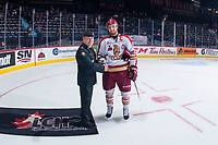 REGINA, SK - MAY 22: Jeffrey Truchon-Viel #25 of Acadie-Bathurst Titan accepts the second star of the game against the Hamilton Bulldogs at the Brandt Centre on May 22, 2018 in Regina, Canada. (Photo by Marissa Baecker/CHL Images)