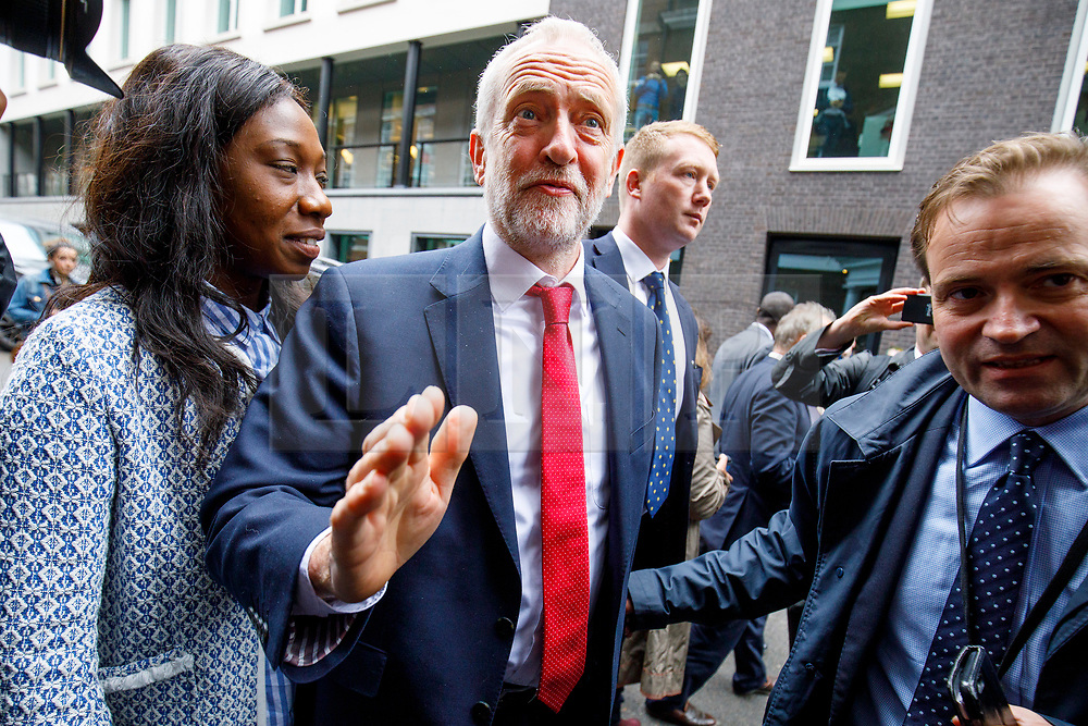 © Licensed to London News Pictures. 12/05/2017. London, UK. Labour leader JEREMY CORBYN arrives to make a speech on defence and security at Chatham House, London on Friday, 12 May 2017. Photo credit: Tolga Akmen/LNP