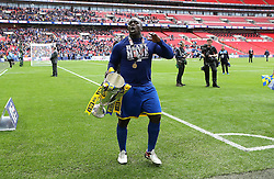 Adebayo Akinfenwa of AFC Wimbledon celebrates winning the League Two Playoff Final with the Trophy - Mandatory by-line: Robbie Stephenson/JMP - 30/05/2016 - FOOTBALL - Wembley Stadium - London, England - AFC Wimbledon v Plymouth Argyle - Sky Bet League Two Play-off Final