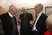 James Fenton,, Humphrey Ocean and Charles Saumeraz Smith. Book Launch of ' School of Genius' by James Fenton. Life Room of the Royal academy Schools. Royal academy of arts. London W1. 6 April 2006. ONE TIME USE ONLY - DO NOT ARCHIVE  © Copyright Photograph by Dafydd Jones 66 Stockwell Park Rd. London SW9 0DA Tel 020 7733 0108 www.dafjones.com