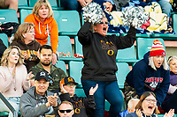KELOWNA, BC - OCTOBER 6: Fans cheer at the Apple Bowl on October 6, 2019 in Kelowna, Canada. (Photo by Marissa Baecker/Shoot the Breeze)
