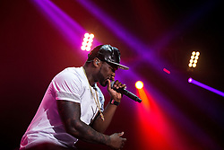 © Licensed to London News Pictures . 06/11/2015 . Manchester , UK . American rapper 50 CENT ( CURTIS JAMES JACKSON III ) performs at the Manchester Arena . Photo credit : Joel Goodman/LNP