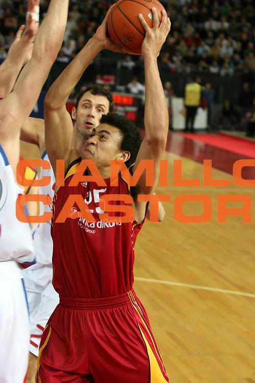 DESCRIZIONE : Roma Eurolega 2007-08 Top 16 Lottomatica Virtus Roma Cska Mosca <br /> GIOCATORE : Ibrahim Jaaber <br /> SQUADRA : Lottomatica Virtus Roma <br /> EVENTO : Eurolega 2007-2008 <br /> GARA : Lottomatica Virtus Roma Cska Mosca <br /> DATA : 06/03/2008 <br /> CATEGORIA : Tiro <br /> SPORT : Pallacanestro <br /> AUTORE : Agenzia Ciamillo-Castoria/G.Ciamillo