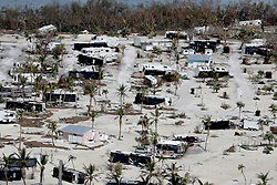 September 13, 2017  - Marathon, Florida, U.S. - Damaged homes and motor homes in the Sunshine Key after Hurricane Irma.  (Credit Image: © Sun-Sentinel via ZUMA Wire)