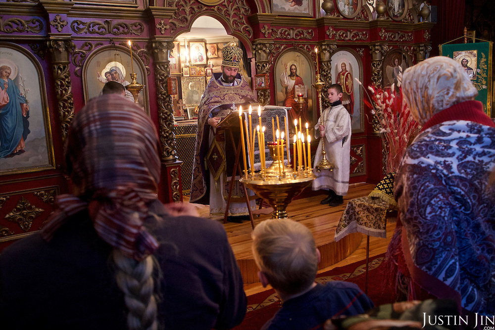 The Orthodox Christian priest in the town of Slavutych, which has some of the highest birth rates in Ukraine. <br /> <br /> Slavutych rises out of the ashes of the Chernobyl nuclear disaster in April 26, 1986. People living near the disaster area were largely moved to the new city, built from scratch for the sole purpose of housing the population displaced by the nuclear accident.