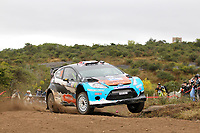 MOTORSPORT - WRC 2012 - ARGENTINA RALLY - CORDOBA  - 26 TO 29/04/2012 - PHOTO : FRANÇOIS BAUDIN / DPPI - <br /> 10 OSTBERG MADS (NOR)/ ANDERSSON JONAS (NOR)- FORD FIESTA RS WRC - ACTION