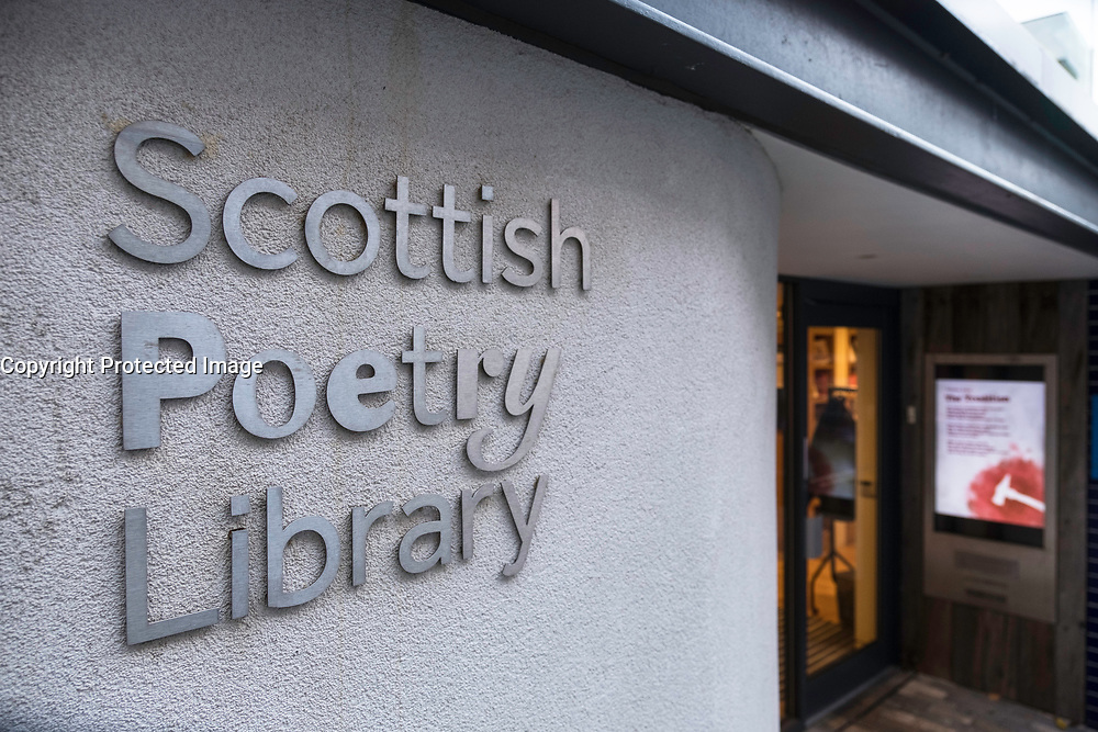 Exterior view of Scottish Poetry Library in Old Town of Edinburgh, Scotland, United Kingdom