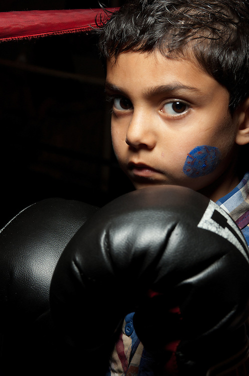 23 April 2011: Sean Garcia practices at La Habra Boxing Club in La Habra, CA