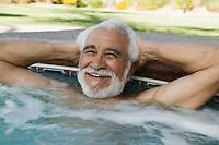 Senior Man in Hot Tub portrait.