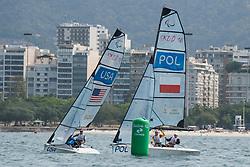 PORTEOUS Ryan, McKINNON Maureen, USA, 2-Person Keelboat, SKUD18, Sailing, Voile, GIBES Monika, CICHOCKI Piotr, POL à Rio 2016 Paralympic Games, Brazil