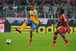 30.11.2013, Allianz Arena, Muenchen, GER, 1. FBL, FC Bayern München vs Eintracht Braunschweig, 14. Runde, im Bild Links Deniz Dogan (Eintracht Braunschweig), rechts David Alaba (FC Bayern Muenchen)<br /> <br /> Bayern Muenchen - Eintracht Braunschweig, Bundesliga, Fussball, 30 11 2013 // during the German Bundesliga 14th round match between FC Bayern München vs Eintracht Braunschweig at the Allianz Arena in Muenchen, Germany on 2013/11/30. EXPA Pictures © 2013, PhotoCredit: EXPA/ Eibner-Pressefoto/ Stuetzle<br /> <br /> *****ATTENTION - OUT of GER*****