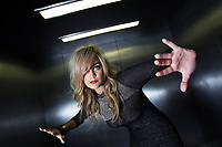 MTV&rsquo;s Laura Whitmore strikes a fashionable pose for Impulse Bodyspray<br /> 19-8-09<br /> Marking her debut into fabulous world of fashion,picture shows  MTV Presenter Laura Whitmore modelled a piece from the Impulse Bodyspray, &lsquo;Laura Whitmore&rsquo;s Impulse Collection that she inspired , for at a photocall  at the RHA Gallery, Ely Place, Dublin 2.Pic:Maxwells-no fee