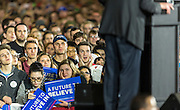 Supporters of Democratic presidential candidate Sen. Bernie Sanders, I-Vt., listen to the candidate at a campaign stop. (AP Photo/Andy Manis)