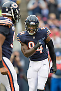 CHICAGO, IL - OCTOBER 22:  Leonard Floyd #94 of the Chicago Bears celebrates after a sack during a game against the Carolina Panthers at Soldier Field on October 22, 2017 in Chicago, Illinois.  The Bears defeated the Panthers 17-3.  (Photo by Wesley Hitt/Getty Images) *** Local Caption *** Leonard Floyd