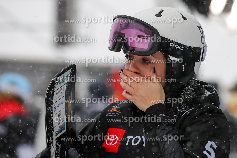 PARK CITY, USA - FEBRUARY 5: Gloria Kotnik of Slovenia looks dejected after the FIS World Snowboard Championships Men's and Women's Parallel Slalom on February 5, 2019 in Park City, USA. Photo by Kristan Morgan / Sportida