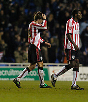 Photo: Leigh Quinnell.<br /> Reading v Southampton. Coca Cola Championship. 10/02/2006. Southamptons Grzegorz Rasiak unhappy after his side lost.