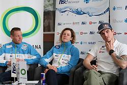 Benjamin Savsek, Ursa Kragelj and Peter Kauzer at press conference of Kayak and Canoe Federation of Slovenia, on March 14, 2017 in Hisa Sporta, Ljubljana, Slovenia. Photo by Matic Klansek Velej / Sportida
