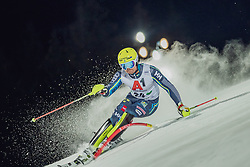"29.01.2019, Planai, Schladming, AUT, FIS Weltcup Ski Alpin, Slalom, Herren, 1. Lauf, im Bild Mattias Hargin (SWE) // Mattias Hargin of Sweden in action during his 1st run of men's Slalom ""the Nightrace"" of FIS ski alpine world cup at the Planai in Schladming, Austria on 2019/01/29. EXPA Pictures © 2019, PhotoCredit: EXPA/ Dominik Angerer"