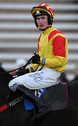 Jockey Thomas Bellamy - Photo mandatory by-line: Harry Trump/JMP - Mobile: 07966 386802 - 17/02/15 - SPORT - Equestrian - Horse Racing - Taunton Racecourse, Somerset, England.