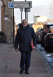 Labour leader Jeremy Corbyn arrives for the Labour NEC meeting in Glasgow on Sunday.<br /> <br /> © Dave Johnston/ EEm