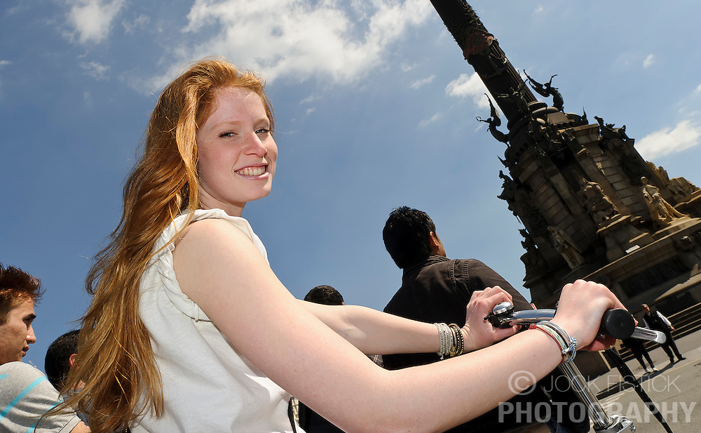 Students participate in the Trinity College study abroad program in Barcelona, Spain on Monday, March 28, 2011. (Photo © Jock Fistick)