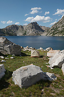 Tent at Sawtooth Lake campsite Sawtooth Mountains Idaho