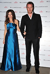 © Licensed to London News Pictures. 10/02/2012. London, England.Anna Friel and Rhys Ifans attend a private dinner ahead of sundays Bafta awards hosted by William Banks-Blaney of WilliamVintage and actress Gillian Anderson at St Pancras Renaissance Hotel London  Photo credit : ALAN ROXBOROUGH/LNP