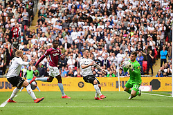 May 27, 2019 - London, England, United Kingdom - Jed Steer (12) of Aston Villa makes a save during the Sky Bet Championship match between Aston Villa and Derby County at Wembley Stadium, London on Monday 27th May 2019. (Credit: Jon Hobley | MI News) (Credit Image: © Mi News/NurPhoto via ZUMA Press)