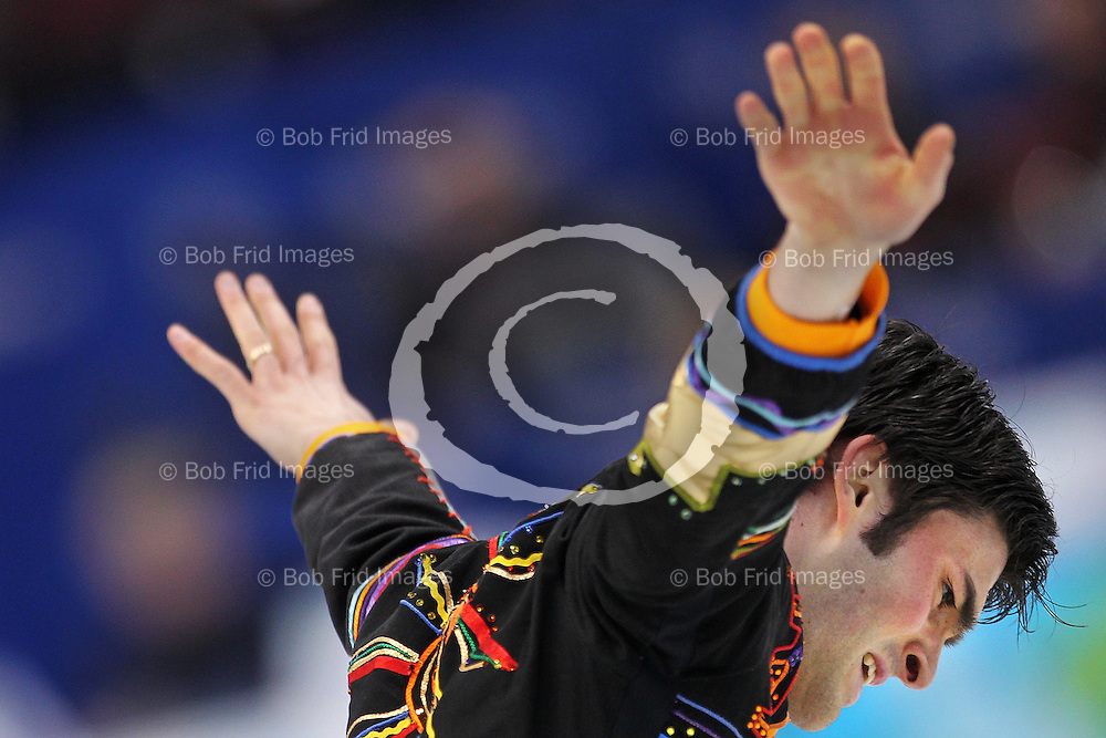 18 February 2010: Italy's Samuel Contesti during the Men's Figure Skating Free Skate Program held at the Pacific Coliseum during the Vancouver 2010 Winter Olympics  in Vancouver,  British Columbia, Canada..