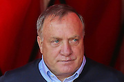 Sunderland Manager Dick Advocaat during the Barclays Premier League match between Sunderland and Tottenham Hotspur at the Stadium Of Light, Sunderland, England on 13 September 2015. Photo by Simon Davies.