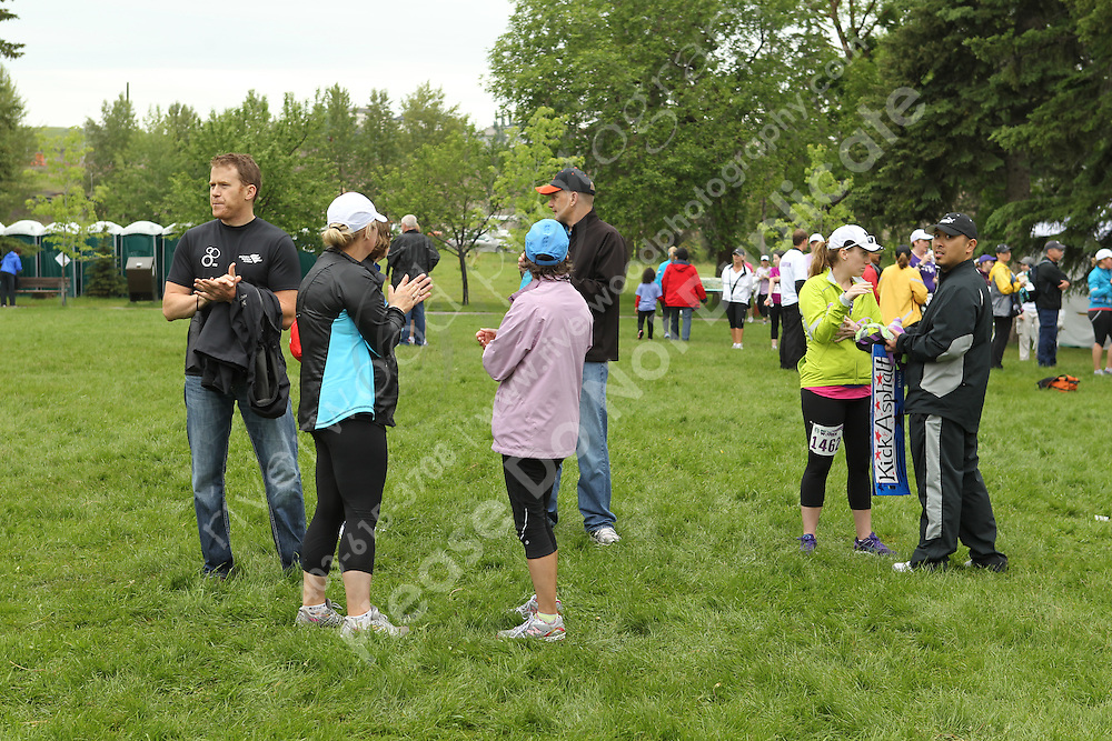 Marketing and promotional stock photography from the the STARBUCKS&reg; RUN FOR WOMEN&trade; at Baker Park in Calgary, Alberta for use by the organizers and sponsors of the race.<br />