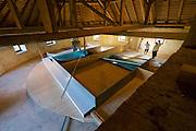 "Gars am Kamp, Lower Austria. Kunstraum Buchberg at Buchberg castle.<br /> Stanislav Kolibal, ""Fundort Dachboden"", Raumkonzept Buchberg XI, Holz, Aluminium, Eisen, Acrylglas (1990/92)"