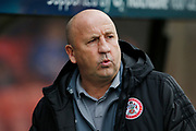 John Coleman Manager of Accrington during the EFL Sky Bet League 1 match between Rochdale and Accrington Stanley at the Crown Oil Arena, Rochdale, England on 12 October 2019.
