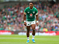 Rugby Union - 2019 pre-Rugby World Cup warm-up (Guinness Summer Series) - Ireland vs. Wales<br /> <br /> Bundee Aki (Ireland) at The Aviva Stadium.<br /> <br /> COLORSPORT/KEN SUTTON