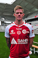 Gaetan Charbonnier - 21.10.2014 - Photo officielle Reims - Ligue 1 2014/2015<br /> Photo : Philippe Le Brech / Icon Sport
