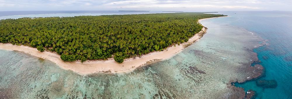 Arial of the northern tip of Uoleva island - Ha'apai, Kingdom of Tonga