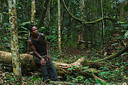 Wilderness Safari Pygmy guide<br /> (Norbert)<br /> Ngaga<br /> Republic of Congo (Congo - Brazzaville)<br /> AFRICA