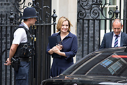 © Licensed to London News Pictures. 21/09/2017. London, UK. Home Secretary Amber Rudd leaving No 10 Downing Street after attending a Cabinet meeting this morning. Photo credit : Tom Nicholson/LNP