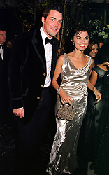 The HON.LUCAS WHITE and his mother VIRGINIA, LADY WHITE, at a dinner in London on 21st October 1999.MYA 158