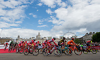 A view of the riders as they start the Prudential RideLondon-Surrey Classic at Horse Guards Parade 30/07/2017<br /> <br /> Photo: Jon Buckle/Silverhub for Prudential RideLondon<br /> <br /> Prudential RideLondon is the world's greatest festival of cycling, involving 100,000+ cyclists – from Olympic champions to a free family fun ride - riding in events over closed roads in London and Surrey over the weekend of 28th to 30th July 2017. <br /> <br /> See www.PrudentialRideLondon.co.uk for more.<br /> <br /> For further information: media@londonmarathonevents.co.uk