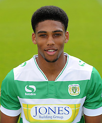 Yeovil Town's Shaun Jeffers - Photo mandatory by-line: Harry Trump/JMP - Mobile: 07966 386802 - 06/08/15 - SPORT - FOOTBALL - Yeovil Town Press Day - Huish Park, Yeovil, England.