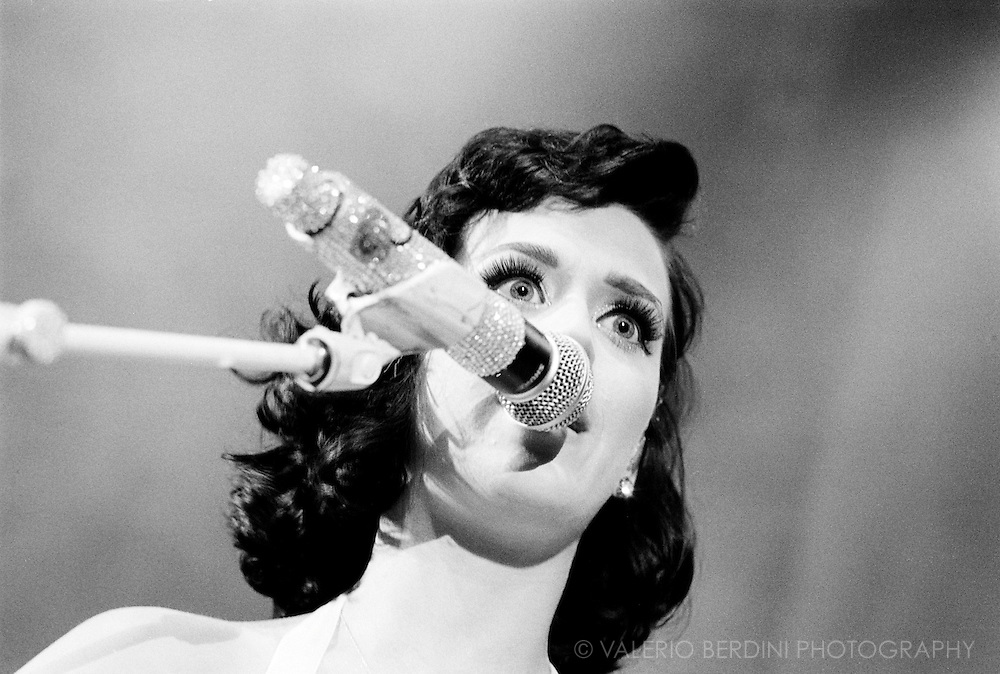 Katy Perry live in London at the Shepherd Bush Empire on 10th of June 2009 shot on b&w 35mm film