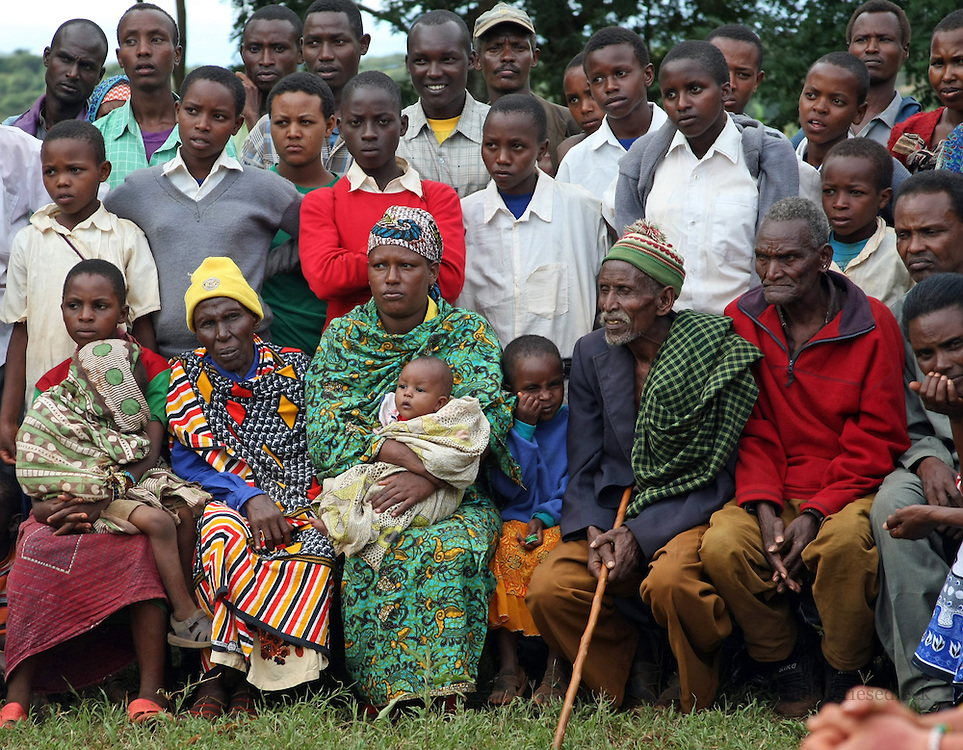 Village elders in Bossodawish, Tanzania at a village gathering.